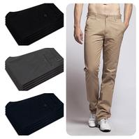 2014 Special Offer Men's Formal Dress Pants Men/ High Quality Black/Khaki/Army Pants Straight Men Business Pants Free Shipping