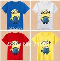 NEW Fashion Despicable me Children's clothes,small yellow despicable me children's short sleeved T-shirt