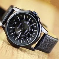 2014 New CURREN Fashion Men Quartz Watch, PC Movement With Calendar Date Casual Leather Strap Men Sport Watch,Gift Wrist Watch