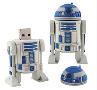 HOT 2014 Star Wars The robot 4GB 8GB 16GB 32GB 64GB Silicone USB Flash Drive usb 2.0 Memory Sticks Cartoon pen drive flash drive
