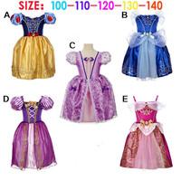 2014 Brand Kids Baby Girls Princess dress Frozen dress Elsa's and Anna's girl dresses, frozen princess elsa anna dress