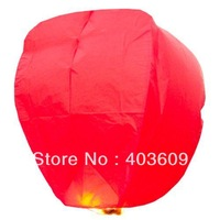 10psc Sky Lanterns Wishing Lantern - Red Chinese Wishing Lantern Classic Toys Balloon Shape Free Shipping Wholesale