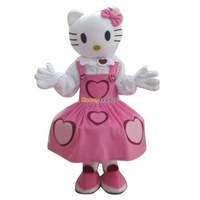 100% Real Pictures! Free Shipping! Deluxe Hello Kitty Mascot Costume with helmet and cooling fan FT30656