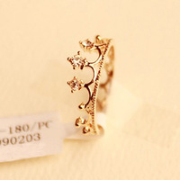 Wholesale 10pcs/lot 2014 New Imitation Diamond Jewelry Studded Vintage Crown Finger Party the Rings o for Women