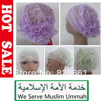 New Muslim hijab,underscarf, lace Bonnet Cap , arab inner cap ,wholesale(120 pcs/lot) +free shipping