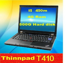 Used laptop lenovo Thinkpda T410  intel i5-450M 2.4G 4G/500G 14-inch widescreen DVD  ultrathin Wifi bluetooth  Webcam  notebook