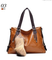 2014 New Women Real Genuine Leather Handbag Cross Body  Wax Oil Cowhide One Shoulder Messenger Bag ncient Way