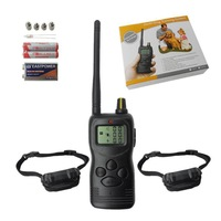Wholesale - HOT 1000M Remote Control Training System Dog Collar LCD Anti- Bark For 2 Dogs with mb-309