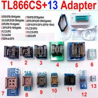 TL866CS programmer +13 universal adapters PLCC Extractor TL866 AVR PIC Bios 51 MCU Flash EPROM Programmer Russian English manual