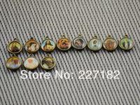Lot of 50 Catholic Religious gift  two sided Saint bracelet charm medal diameter 1cm