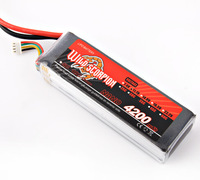 RC wild scorpion 11.1V 4200mAh 35C Li-polymer RC Battery JST/RC Battery for helicopters / toy cars +free shipping