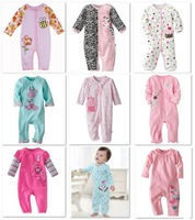 2014 Carters Baby Rompers Cotton Bodysuits Long Pajamas Romper First Movement 1pcs Toddler ONE-PIECES Clothes
