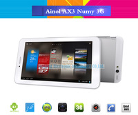 Ainol AX3 Numy 3G Quad Core Phone Call Android Tablet 7 inch Dual SIM Card Slot 1024x600pix MTK8382 Bluetooth GPS WCDMA 16GB ROM