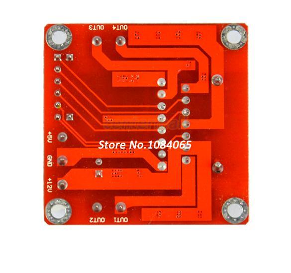 Drop Shipping New Dual H Bridge DC Stepper Motor Drive Controller Board Module L298N for Arduino TK0450(China (Mainland))