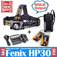 Wholesale Fenix HP30 900LM Head Power LED HeadTorch Head Lantern + Fenix ARE-C1 18650 Charger + Fenix ARB-L2 2600mAh Batteries