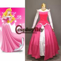 Free Shipping Custom-made Beautiful Sleeping Beauty Aurora Princess Dress Cosplay Costume