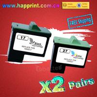 High Quality Replacement Ink Cartridge for Lexmark 17 27 10N0017 10N0027 Z13 Z23 Z25 Z33 Z35 X75 Z515 Z601 Z602 Z603 (2Pairs)