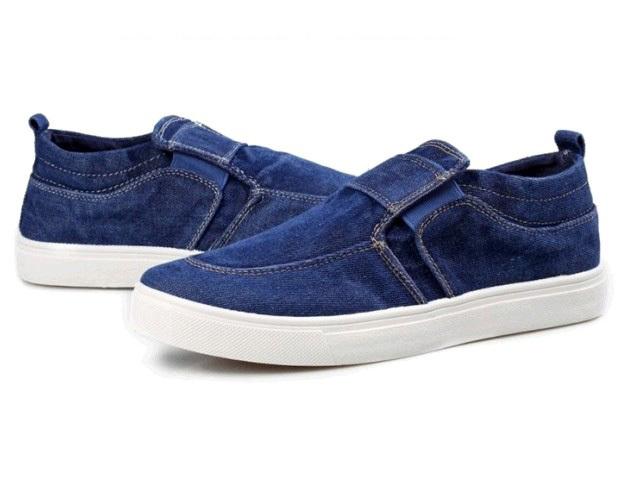 2014 New Men Fashion Sport Shoes Denim Jeans Canvas Shoes Men Spring Autumn Shoes Free Shipping XMR074(China (Mainland))