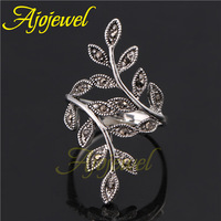 Size 6-9 Free Shipping New Arrival Hight Quality 18K White Gold Plated Vintage Leaf Ring