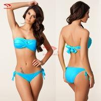 Bikinis set swimwear women new 2014 new Fashion sexy bikini  swimsuit Poly chest Cheap swimwear women Push Up Padded Cup