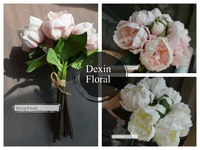 Real/Natural Touch PU Flowers Peony Buds Flowers Bridal/Wedding bouquets, Posy flowers home decoration