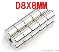 8*8  50PCS/LOT  Craft Model Fridge Powerful Strong Rare Earth Cylinder Neo NdFeB Magnet Neodymium N35 Magnets 8X8MM D8*8MM