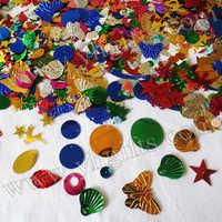 400Gram/Lot, Mixed shape Mixed size sequins,Craft work, Handmade accessories, Garment sequin,scrapbook kit.DIY material.Onstock