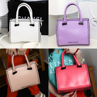 New 2014 Trendy Tote Women PU Leather Handbag Lady Luxury Brand Clutch Casual Female Messenger Shoulder Bags Purse Free Shipping