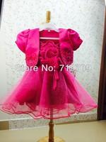 Retail 2014 Summer New girls dress,bow princess dress,Children lace dress,kids dress high quality 803-1