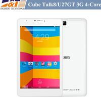 Cube Talk8 talk 8h U27GT 3G 8 inch IPS 1280x800 Phone Call quad core Tablet PC MTK8382 Android 4.4 1GB RAM 8GB WCDMA Bluetooth