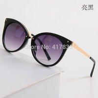 Free Shipping 2014 New Fashion Cat Eye Sunglasses Brand Sunglasses Lady UV Woman Sunglasses 5 Colors