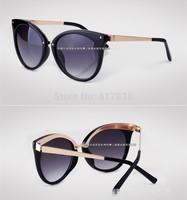 Free Shipping  Fashion Lady Sunglasses Brand Sunglasses UV Women Sunglasses Cat Eye sun glasses Retro Female designer sunglasses