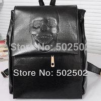 Kito new wave of black skull shoulder bag shoulder bag backpack oblique multi England School Backpack Department