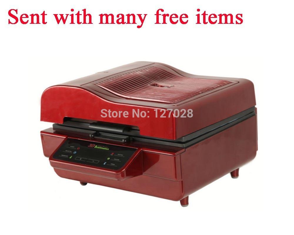 Digital Customized Plug 3D Sublimation Transfer Machine For Phone Cases Mug Plate Printing 3D Vacuum Heat Press Machine(China (Mainland))
