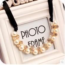 $10 (mix order) Free Shipping New Style Fashion Shiny Ribbon False Collar Necklace Jewelry N4417