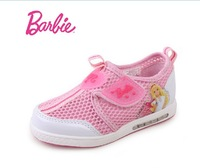 Free Shipping Barbie Breathable Sneaker Children Gift Kids 2 Colors Non-slip 2014 New Spring Orginal Girls' Casual Shoes