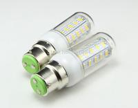 5pcs/lot New and hot selling 220V 230V 200-240v 12W B22 SMD 5730 LED corn bulb lamp 36 LEDS 1180LM Warm white /white led lights
