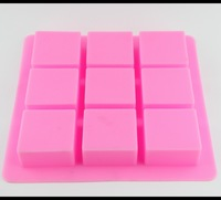 9 Holes Cake Mould Food Grade Silicone Mould Best Square Moulds Soap Pudding Jelly Mould 25*25*3 cm