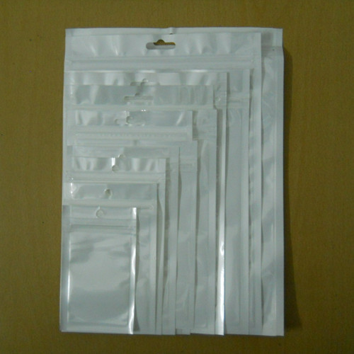 Sample Set! White / Clear Self Seal Zipper Plastic Retail Packaging Packing Poly Bag, Ziplock Zip Lock Bag Package W/ Hang Hole(China (Mainland))