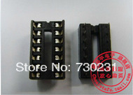 Free Shipping 200pcs 14 Pin DIP SIP IC Sockets Adaptor Solder Type