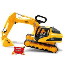 Extra Large Escavadeira gancho carro Escavação Carros Criança caminhão de brinquedo modelo Meninos Presente de Natal de viaturas Engenharia modelo de caminhão Kids Brinquedos(China (Mainland))