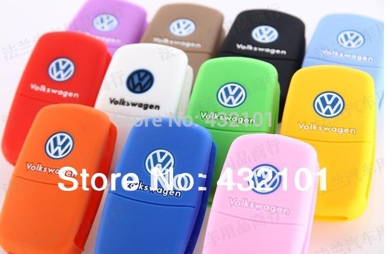 Volkswagen VW POLO Tiguan Passat B5 B6 B7 Golf MK6 EOS Scirocco Jetta MK5 MK6 Silicone car key cover(China (Mainland))
