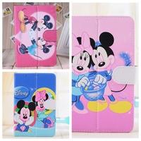 Hello Kitty Mickey Cortoon Case For Samsung Galaxy Tab3 P3200/ PIPO S1/Lenovo A2207/Onda V702 Universal 7inch Tablet PC For Kids