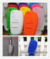 car remote key case cover wallet silica gel many colours for Audi A4L,A5,Q5,S5,A8L, many colors in stock