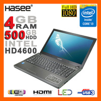 "BRAND NEW Aluminum 15.6"" 1080p Full HD Intel Core i3-4000M 2.4GHz Laptop 4GB Ram 500GB HDD DVDRW HDMI Camera WiFi USB 3.0"
