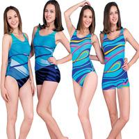 Women's fashion one piece swimwear trigonometric slim swimwear spa
