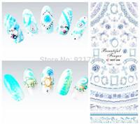 HOT-46-47-48 BLUE PURPLE 2014 newest export japan water nail art sticker decal NEWEST CTOSS 3 pieces each lot