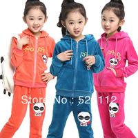 1set 3colors kids sport wear Baby Clothing Set girls sport suit Fashion two-piece Baby Garment Panda Sets Free shipping