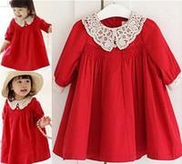 Free Shipping 2015 Korean version children's clothing autumn infant princess dress baby girls dress female child one-piece