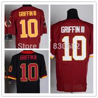 Washington #10 Robert Griffin III Jersey Elite Men American Football Jersey Embroidery Logos Mix Order Size M-XXXL Free Shipping